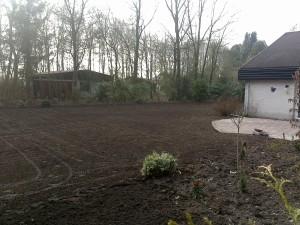 tuin gereed voor het gras in te zaaien2
